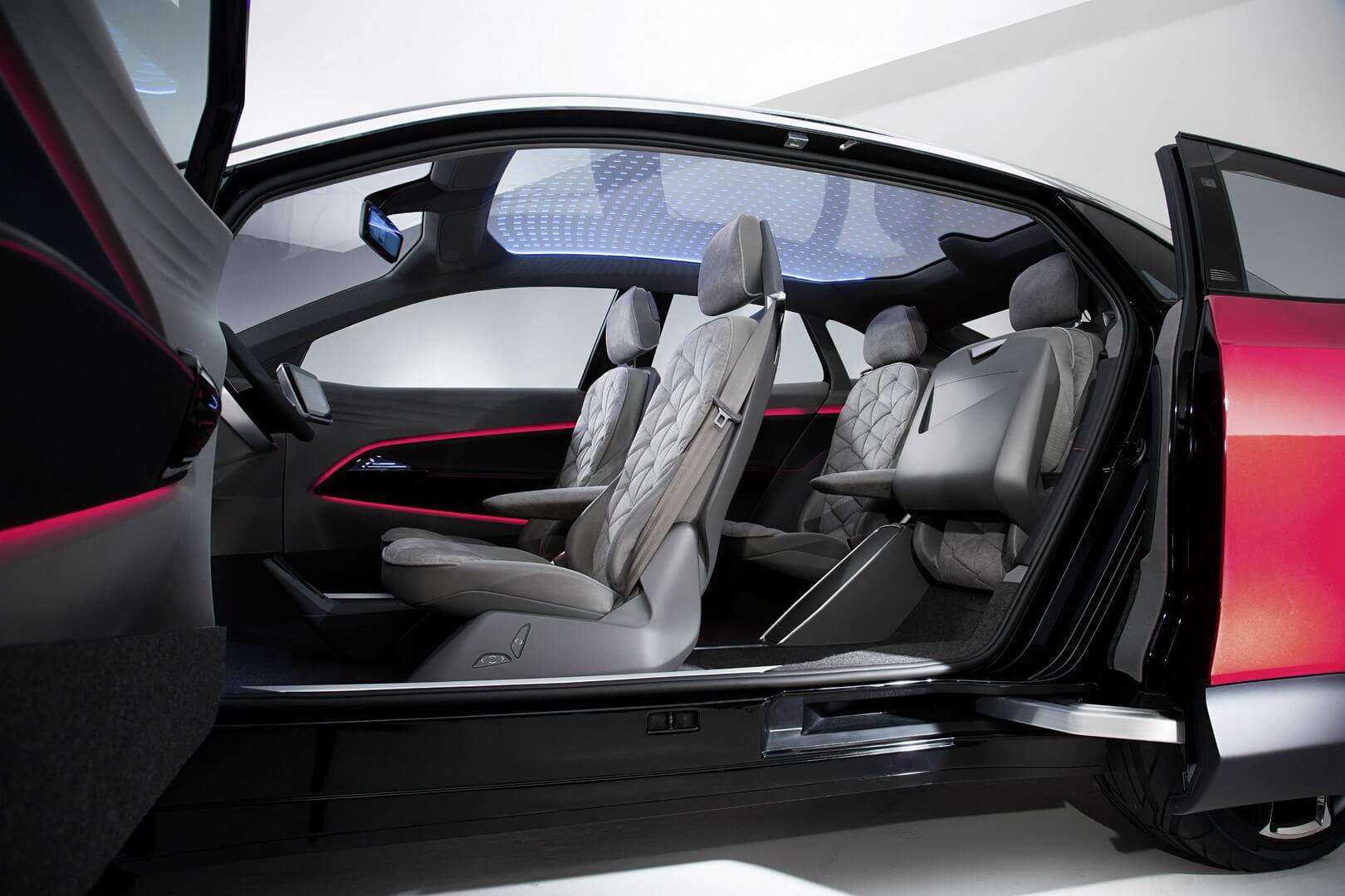 Двери в Volkswagen I.D. Crozz открывающиеся впротивоположную сторону