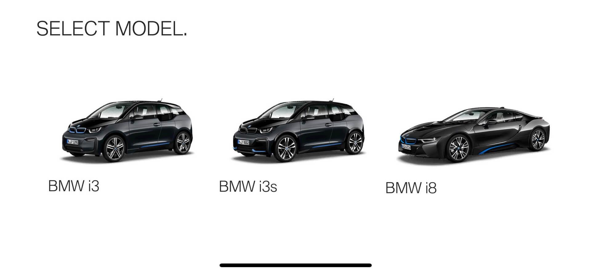 Продукты BMW i: BMWi3, i3s и i8 доступные для визуализации