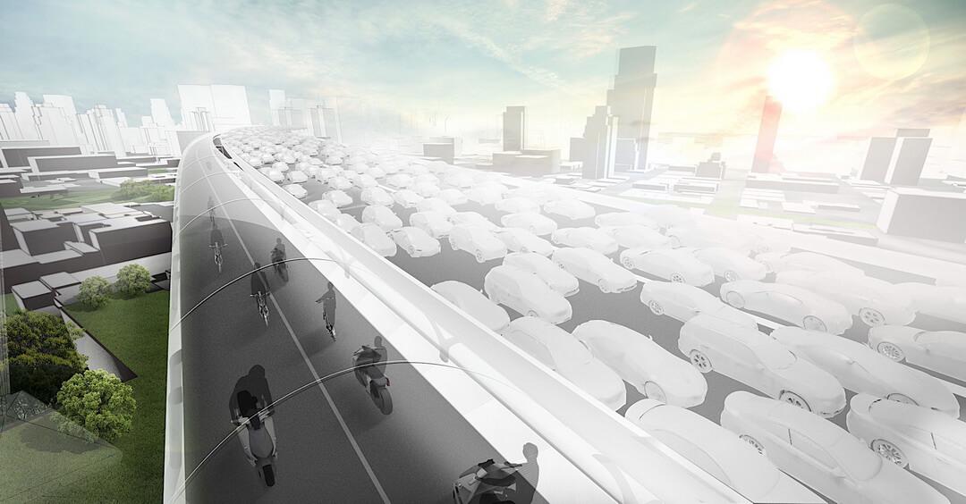Концепция дороги Vision E³ Way для экологических видов транспорта — фото 4