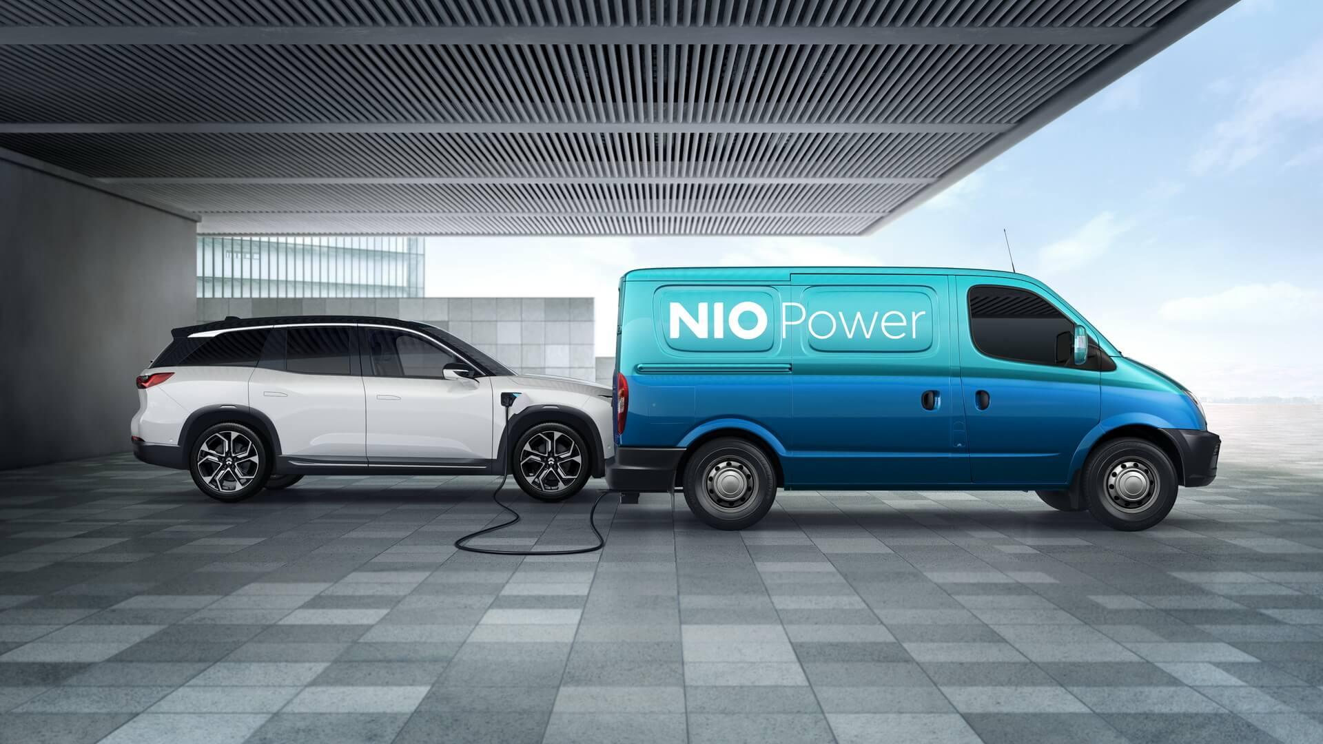 Мобильные фургоны NIO Power