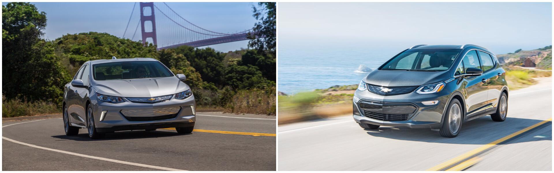 Плагин-гибрид Chevrolet Volt и электромобиль Chevrolet Bolt EV