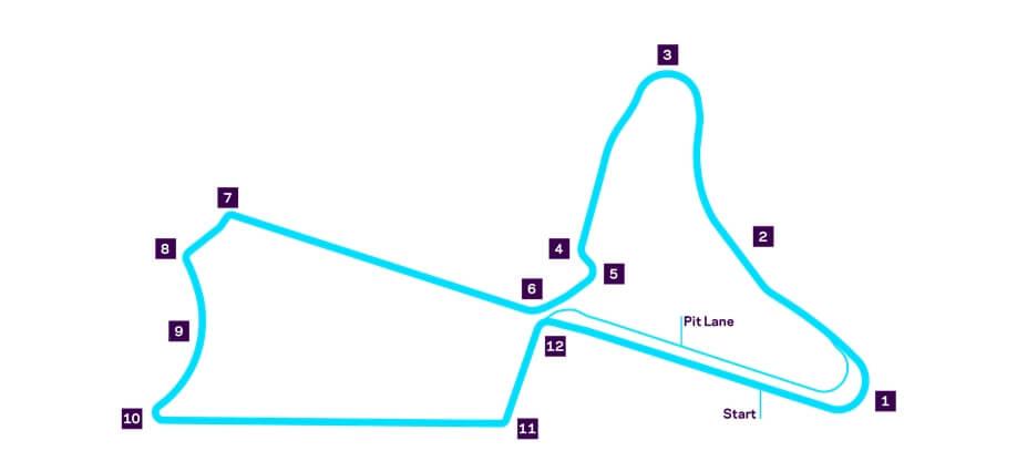 Схема трассы уличных гонок Formula E в Марракеше