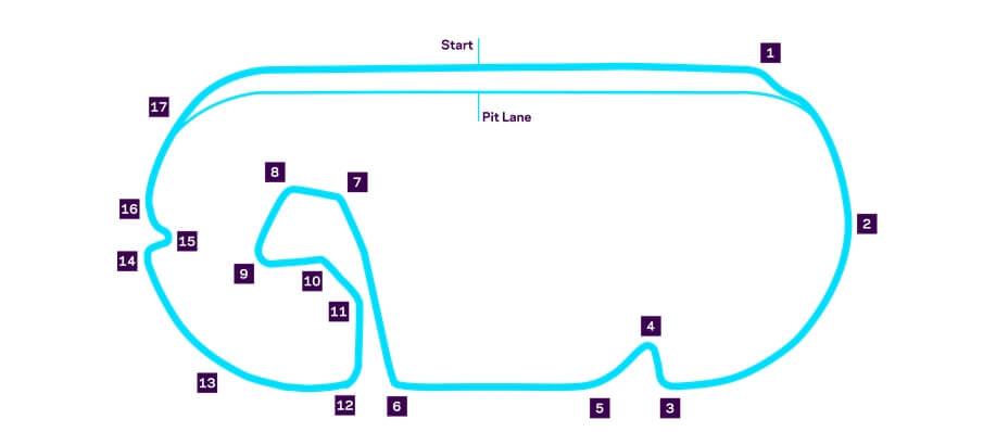 Схема трассы уличных гонок Formula E в Мехико