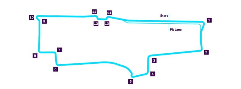 Схема трассы уличных гонок Formula E в Монреале