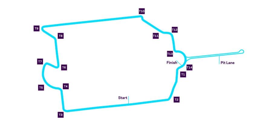 Схема трассы уличных гонок Formula E в Париже