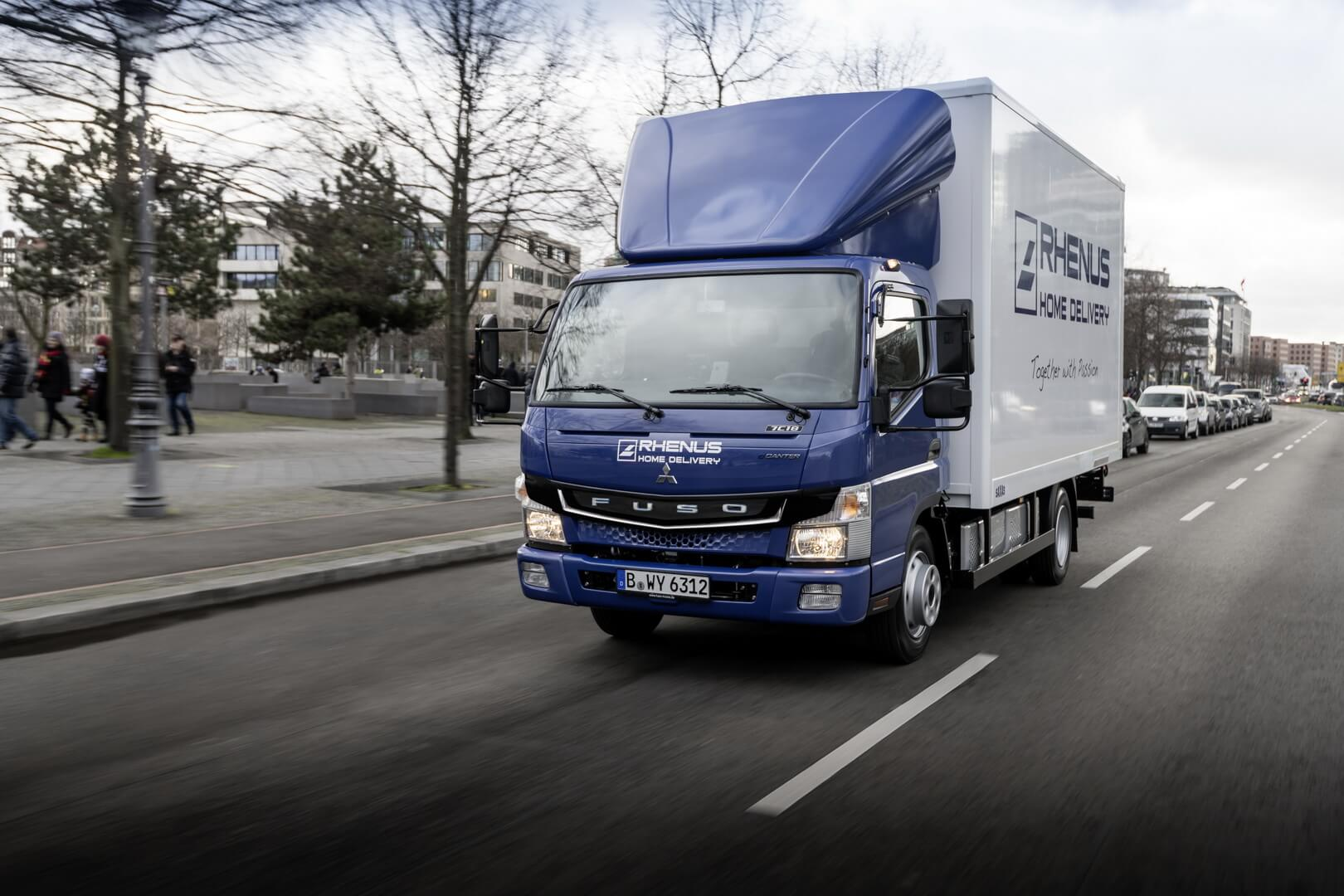Электрогрузовик Fuso eCanter для Rhenus Group