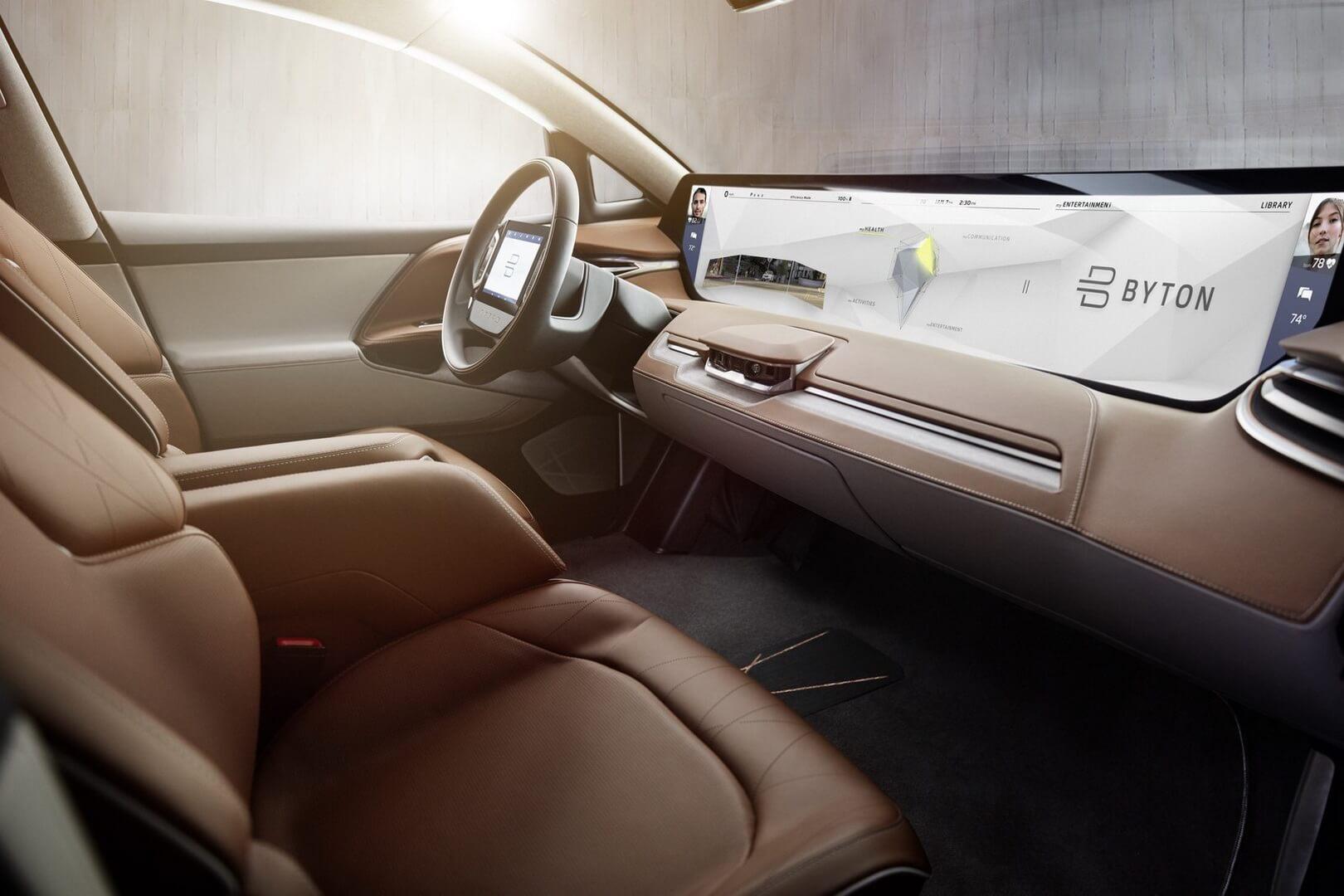 Самый длинный сенсорный экран электромобиля Byton