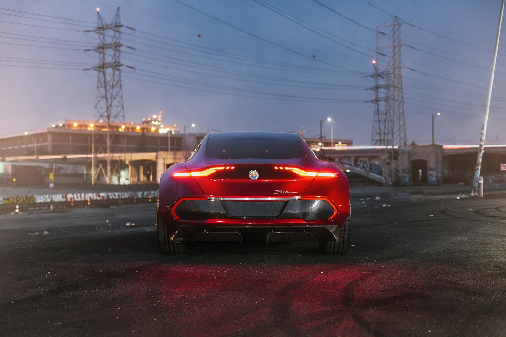 Электрокар Fisker EMotion — вид сзади