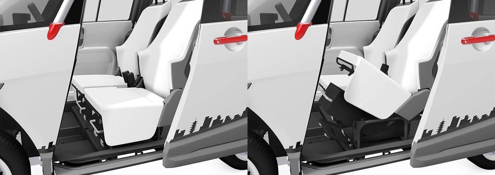 Расположение съемных аккумуляторов Fomm Concept One