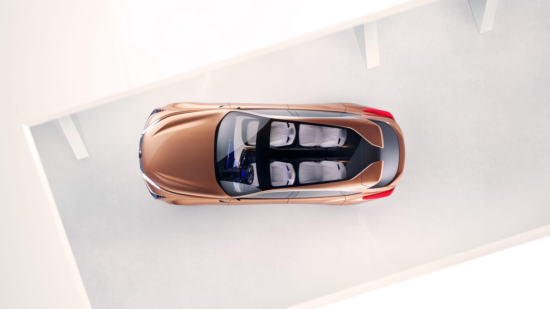 Вид сверху на премиальный кроссовер Lexus LF-1Limitless