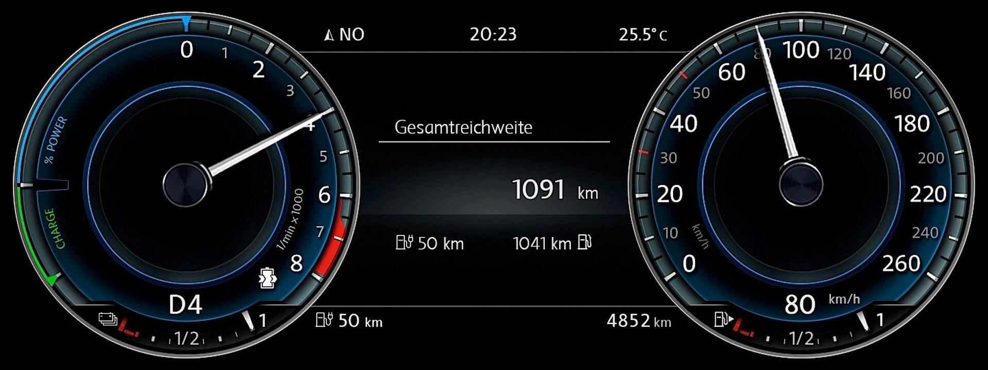 Цифровая панель приборов Volkswagen Passat GTE
