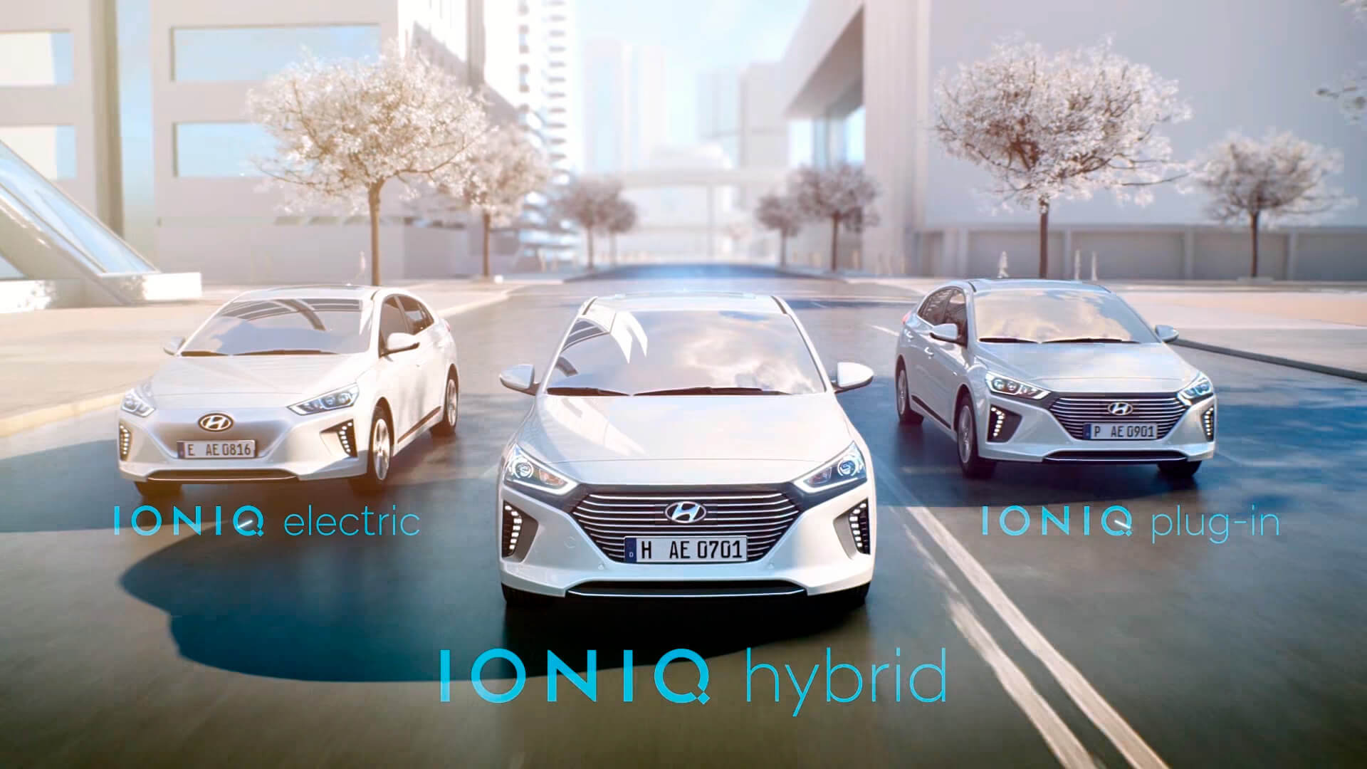 Трио электрокаров Hyundai Ioniq: Electric, Hybrid, Plug-in Hybrid