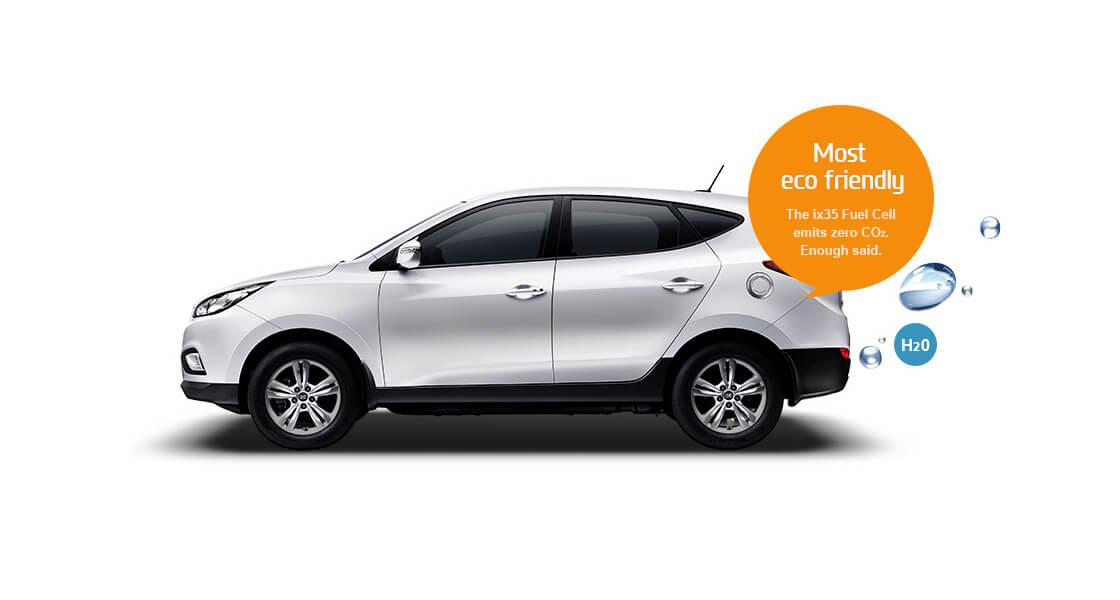 Продукт «выхлопа» Hyundai Tucson Fuel Cell — обыкновенная вода