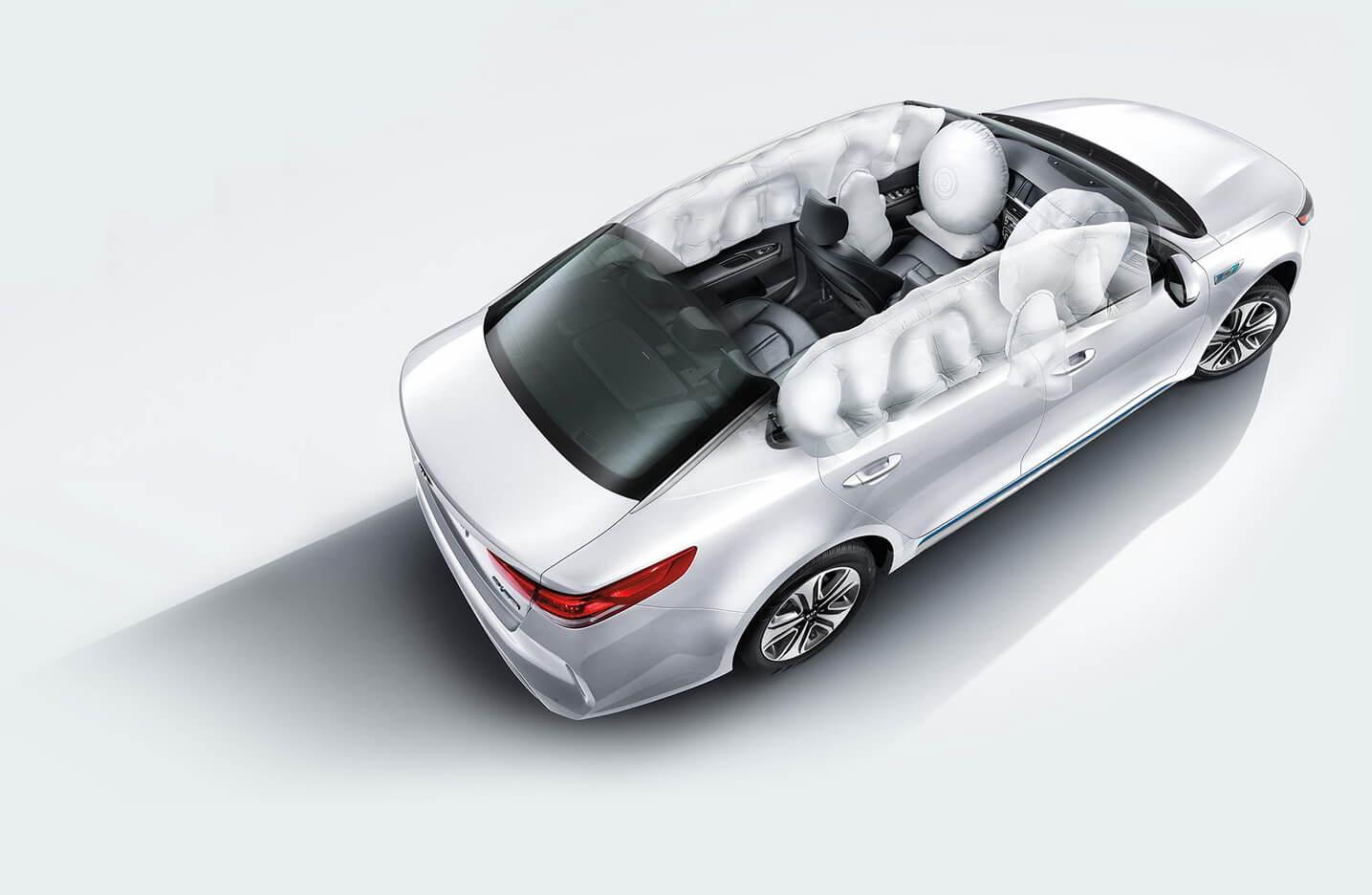 Схема подушек безопасности Kia Optima Hybrid