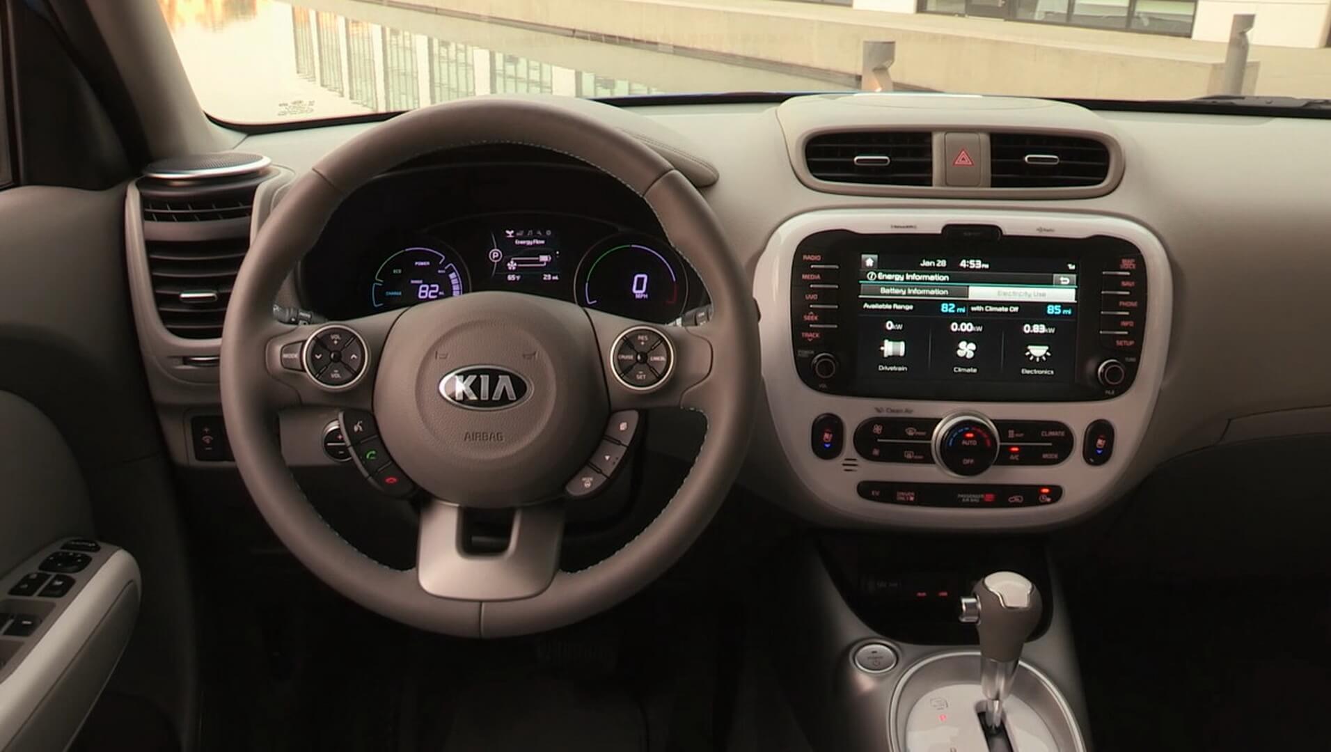 Передняя панель Kia Soul EV