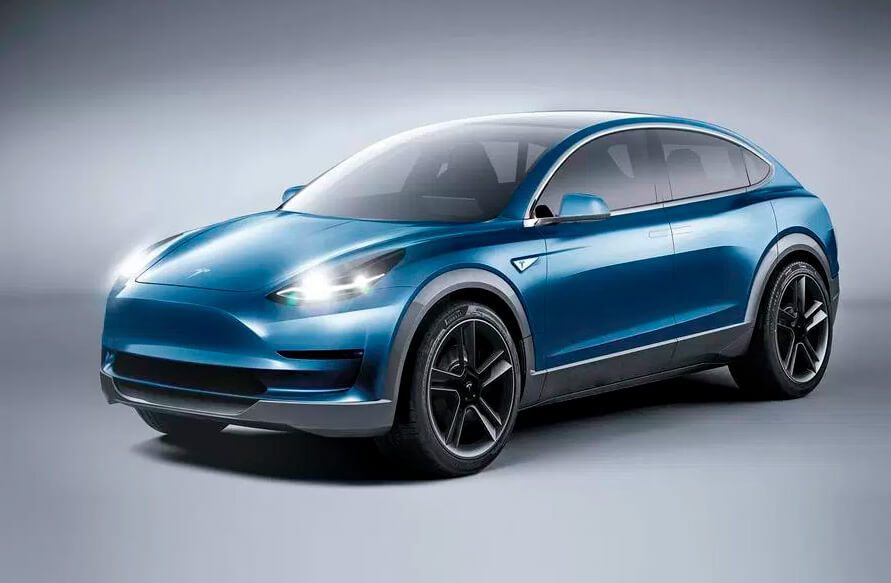 Предполагаемый дизайн Tesla Model Y