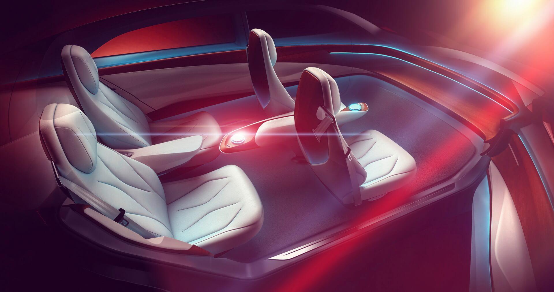 Салон электрического концепта Volkswagen I.D. VIZZION