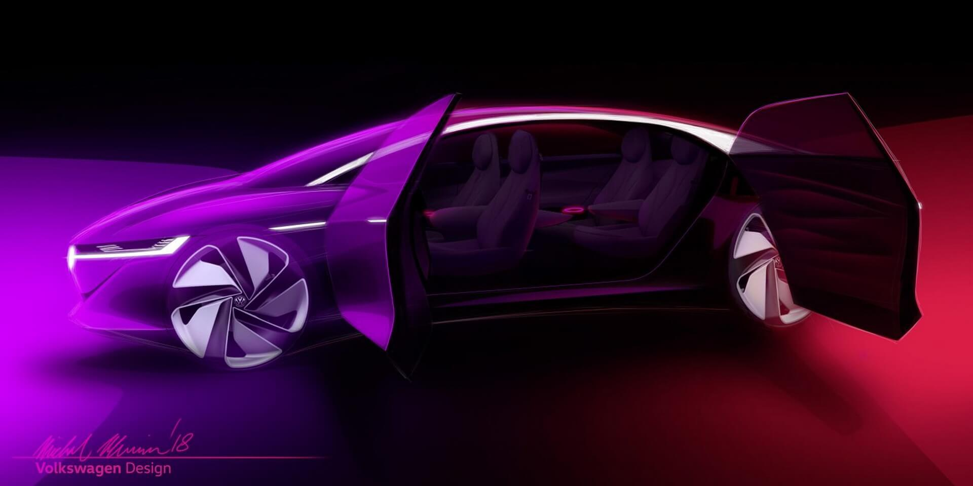 Электрический концепт Volkswagen I.D. VIZZION