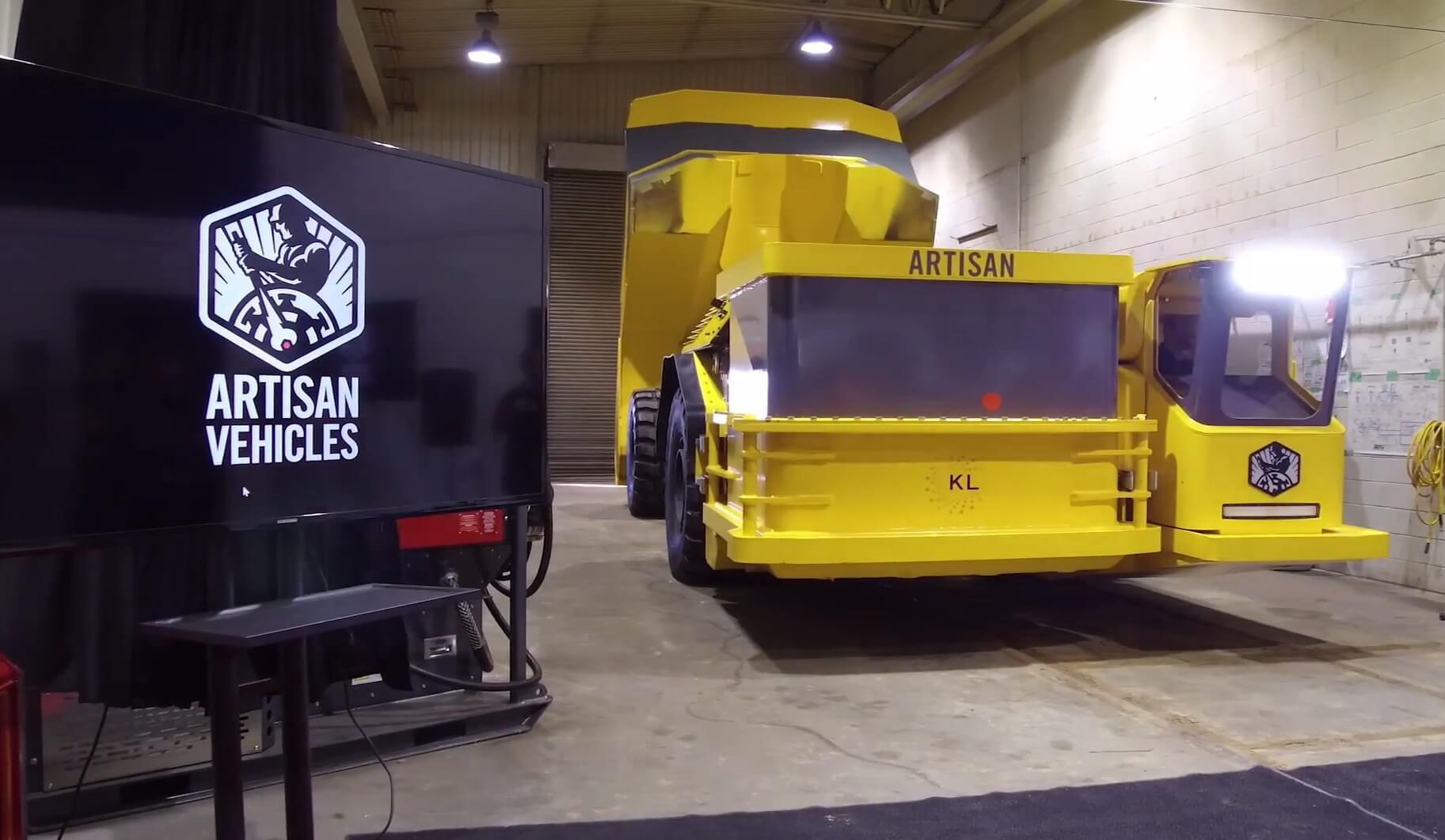 Электрический 40-тонный самосвал Artisan Vehicles Z40