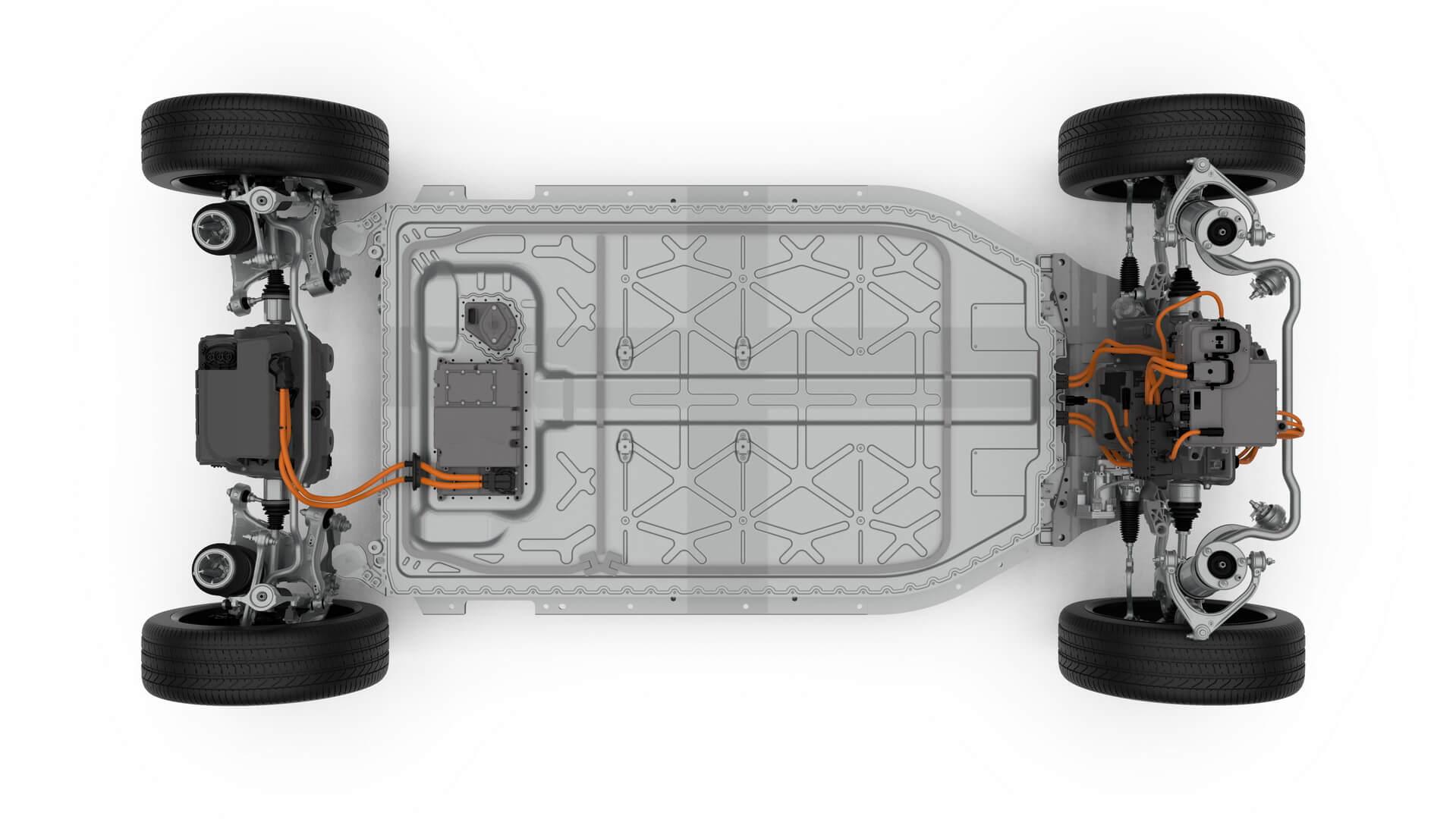 Силовая установка и батарейный блок Jaguar I-Pace