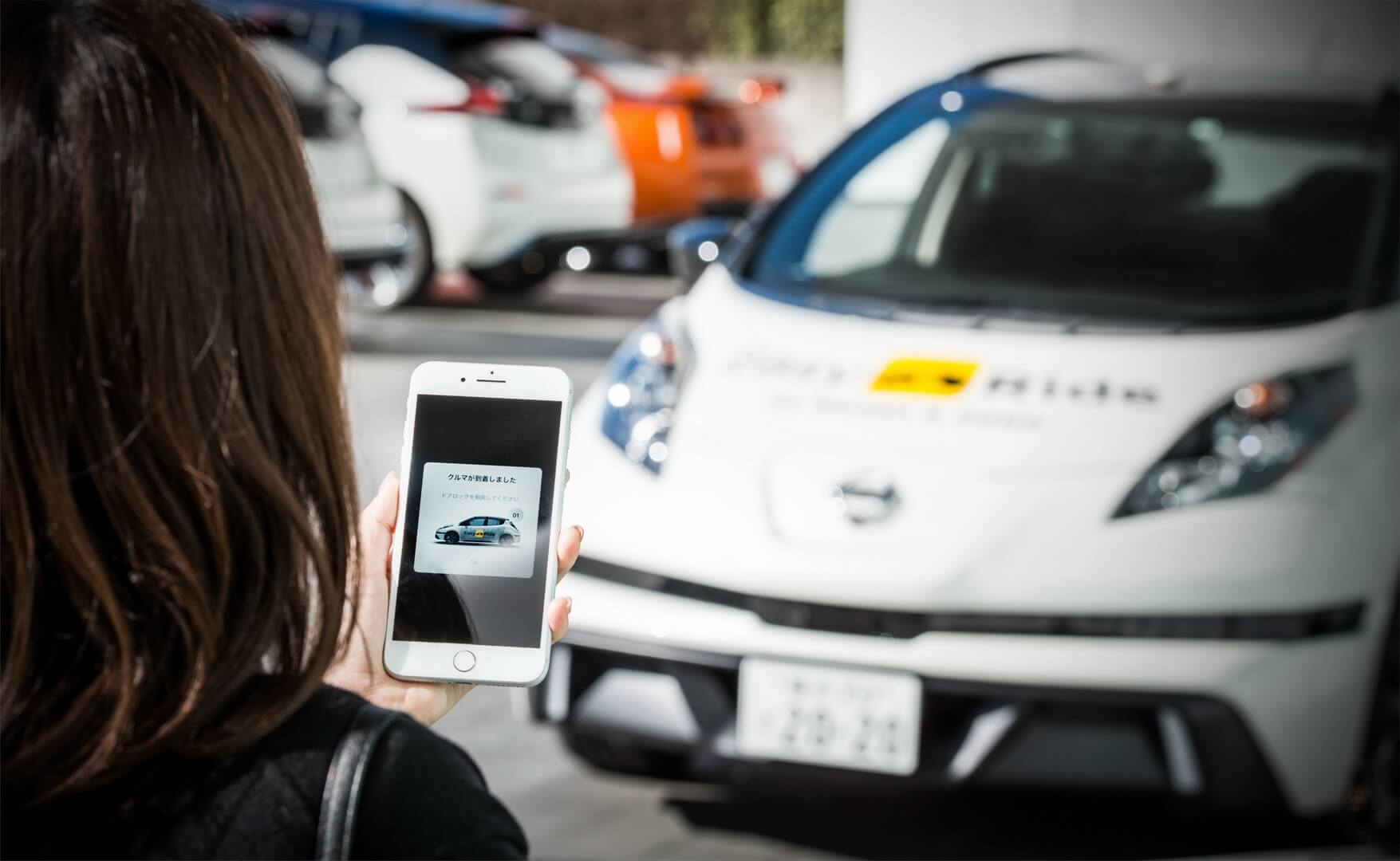 Беспилотный электрический хэтчбек Nissan Leaf для каршеринга