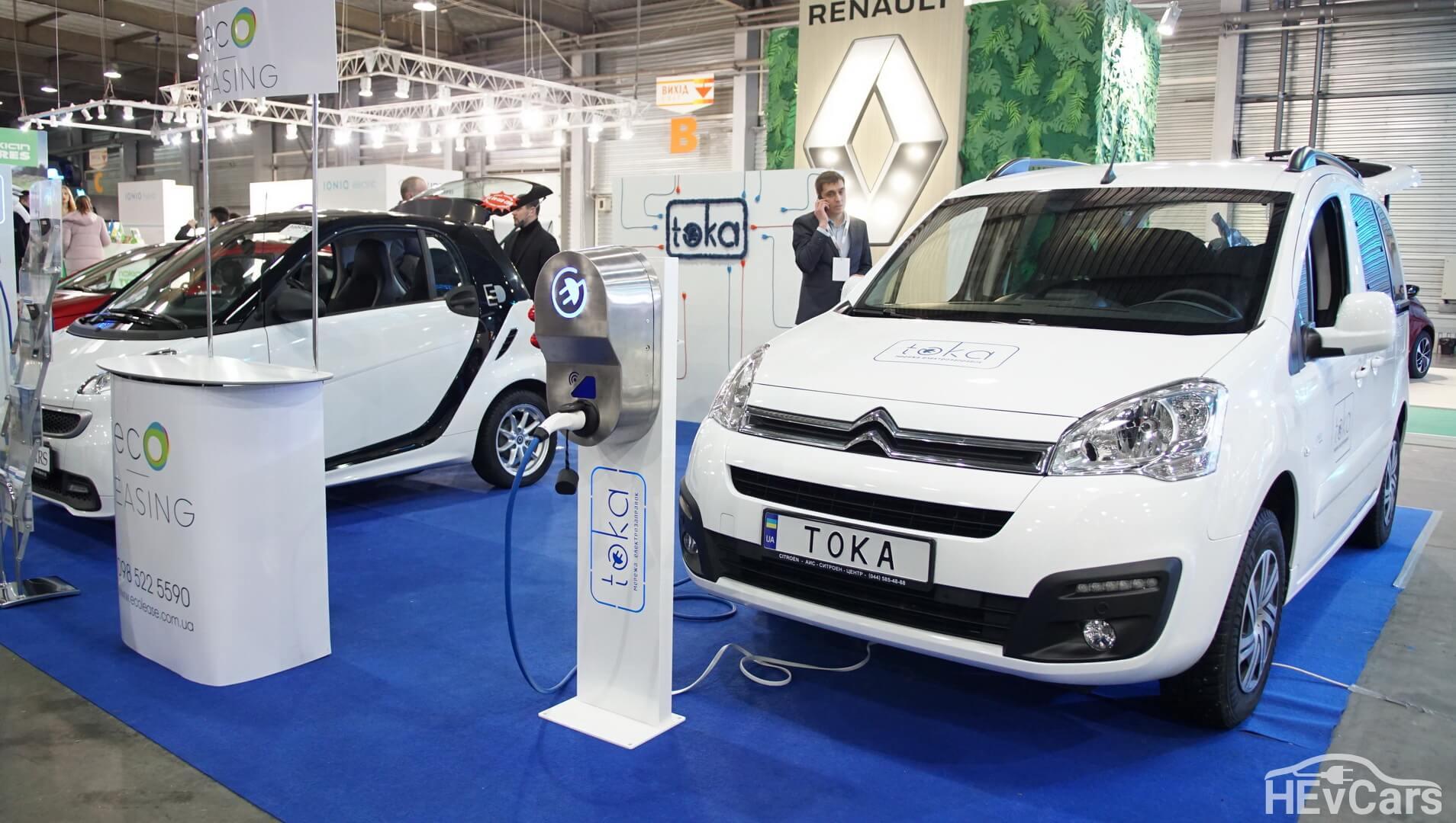 Электромобили Smart Fortwo Electric Drive и Citroen Berlingo Electric