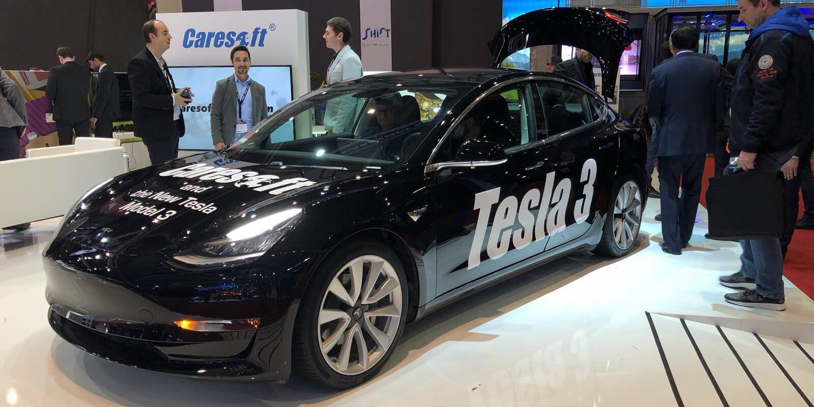 Tesla Model 3 на Женевском автосалоне