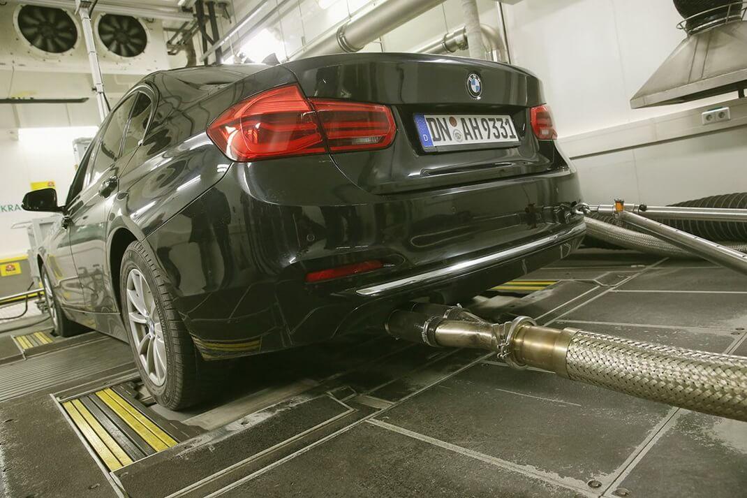 Процесc замера выбросов