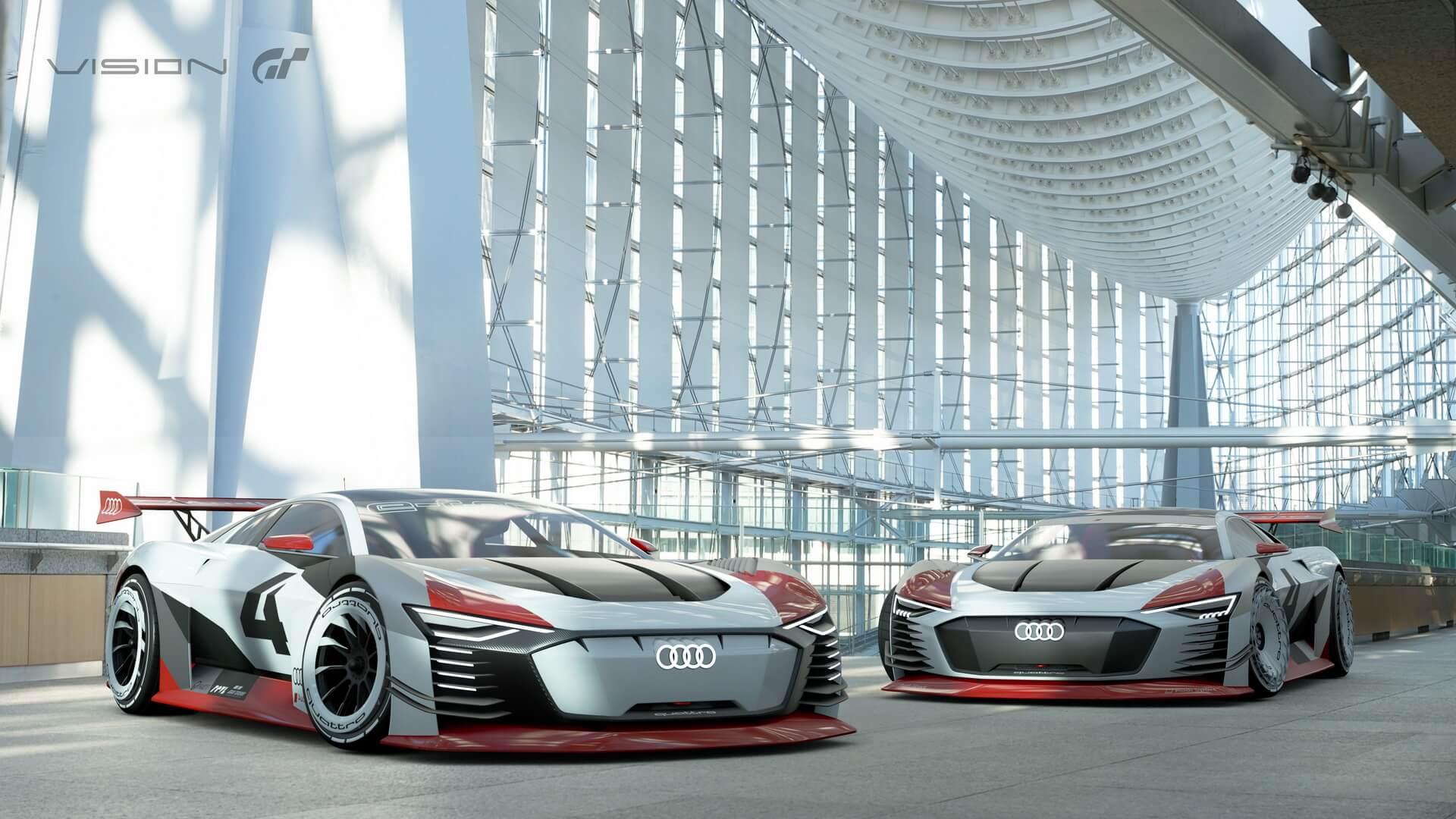 Виртуальные спорткары Audi e-tron Vision Gran Turismo