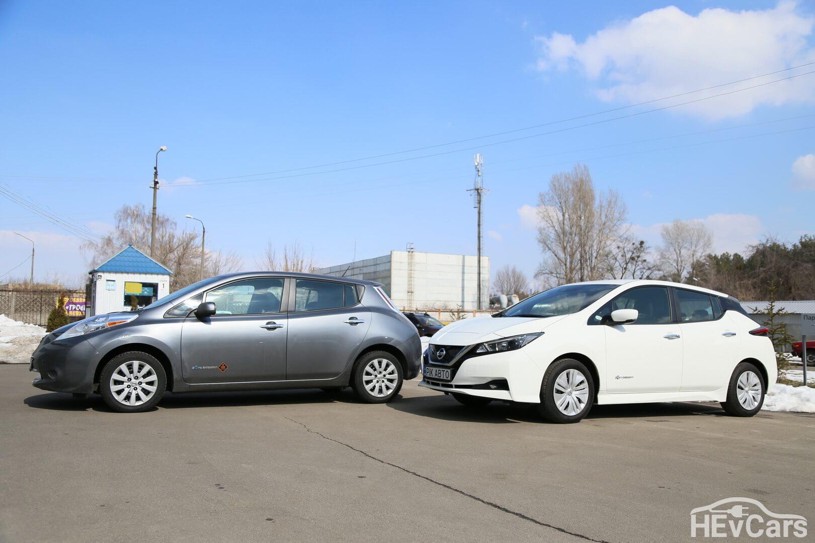 Nissan Leaf первого и второго поколения