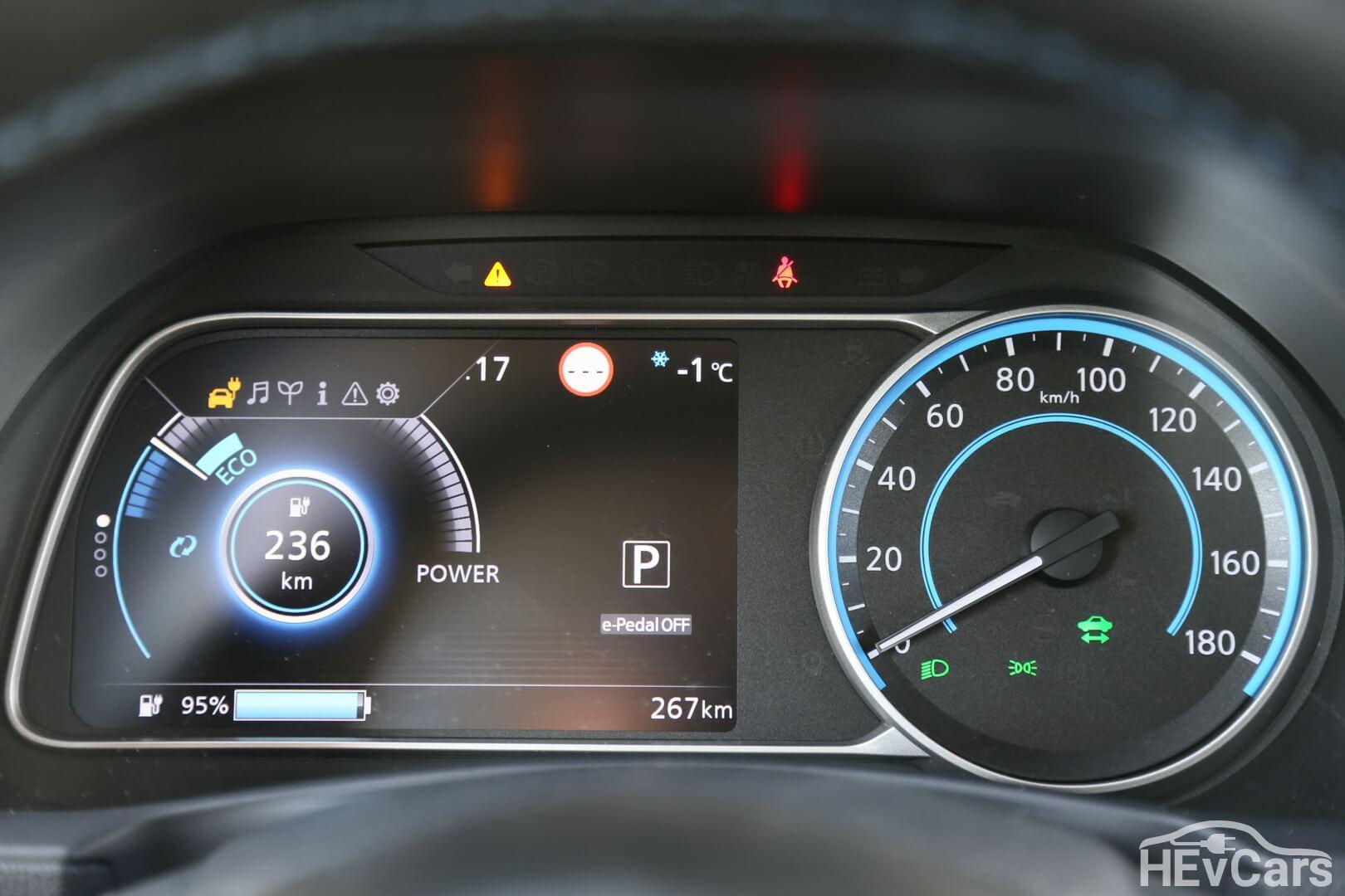 Дисплей панели управления Nissan Leaf 2018