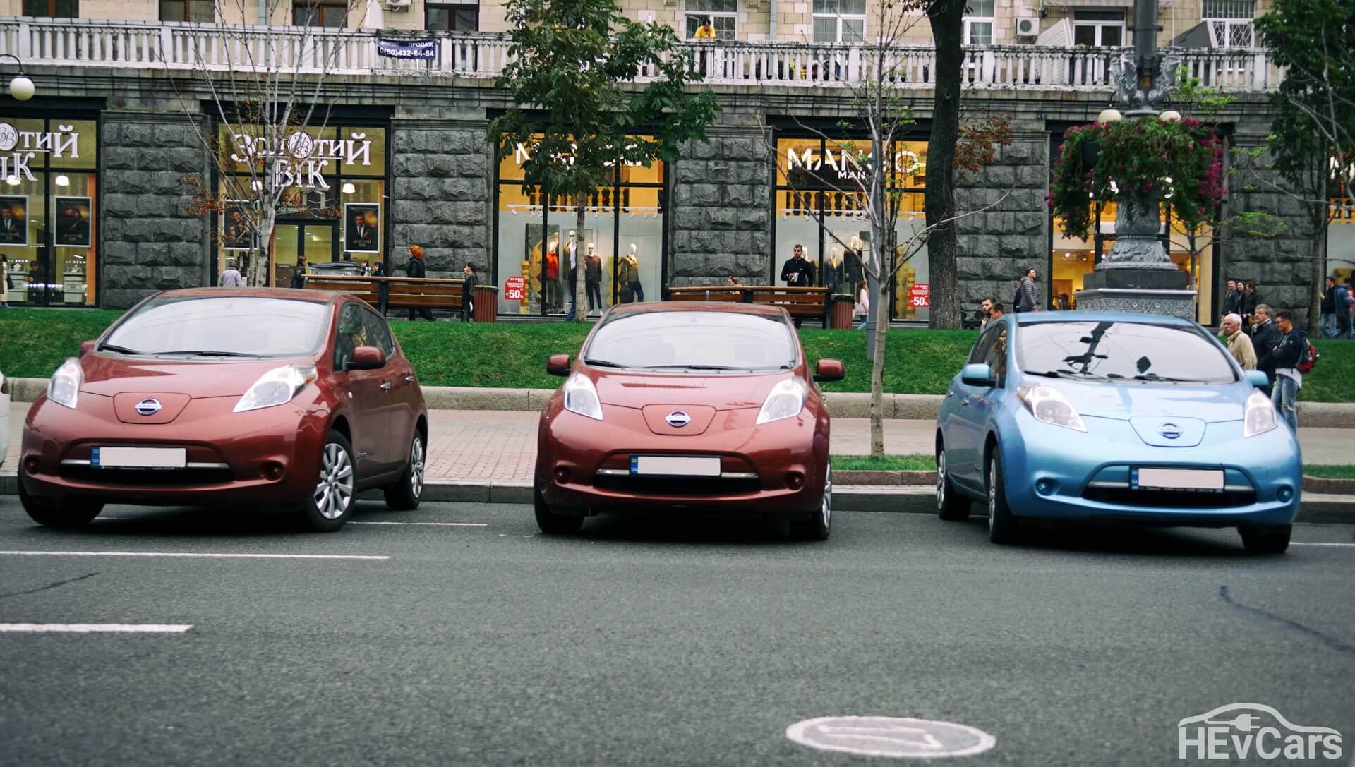 Nissan Leaf— лидер продаж электромобилей в Украине