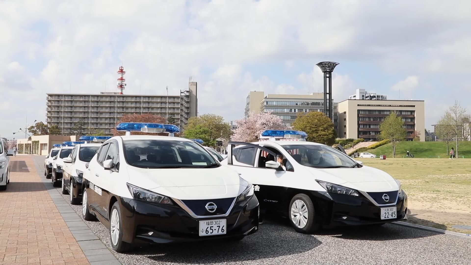 Полицейские электромобили Nissan Leaf второго поколения