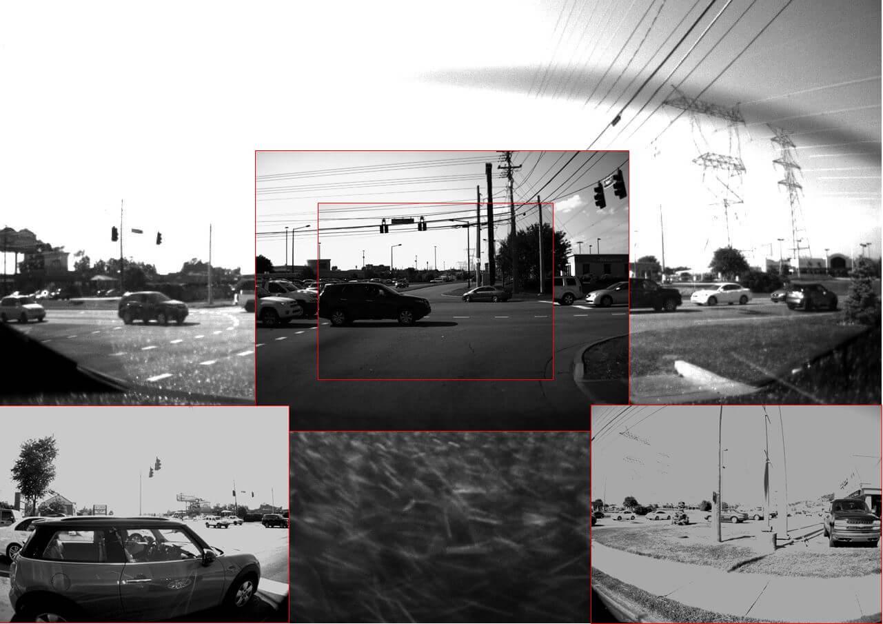 Пример сбора данных с видеокамер Tesla Model 3