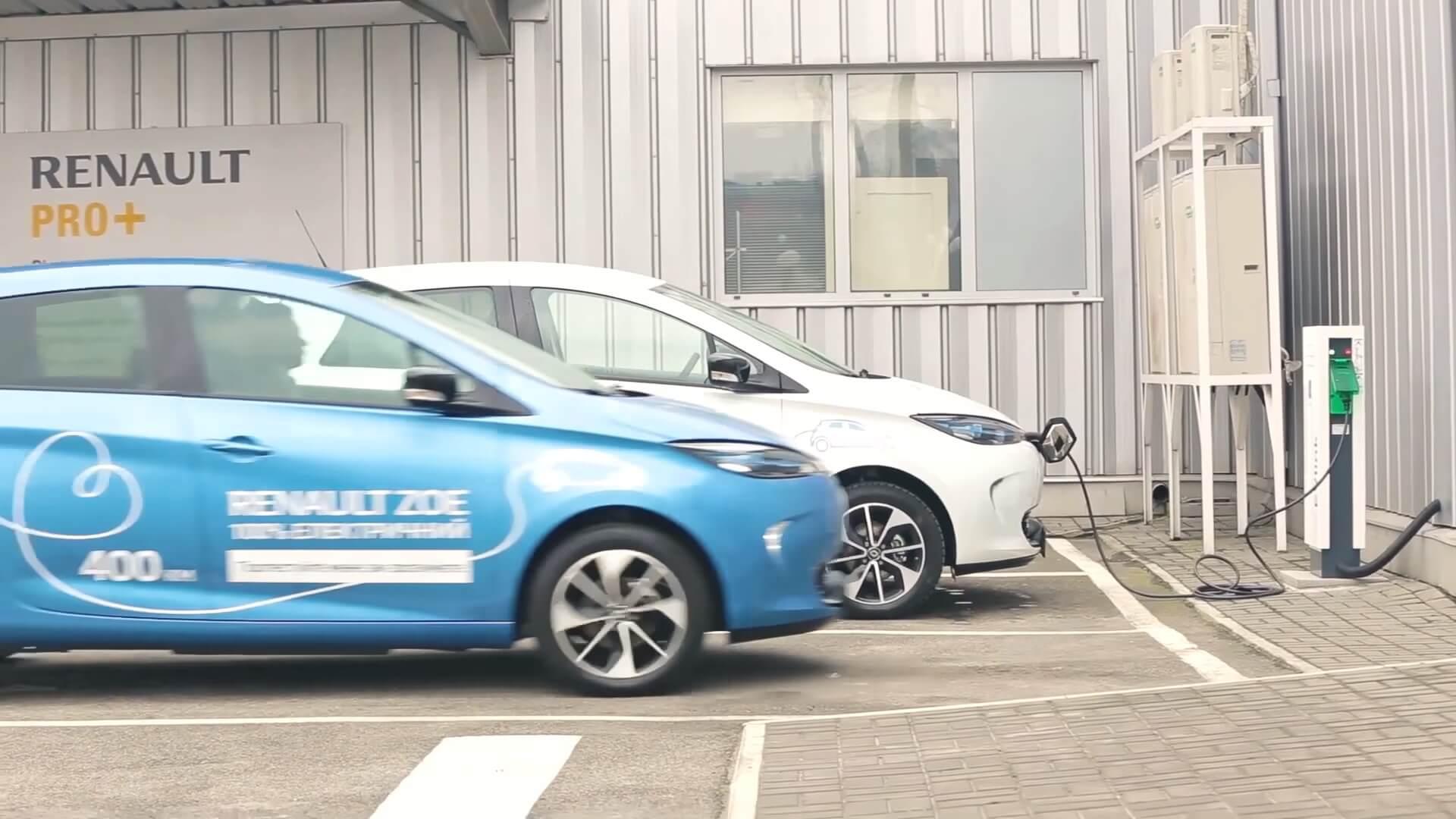 Электромобили Renault ZOE в Украине