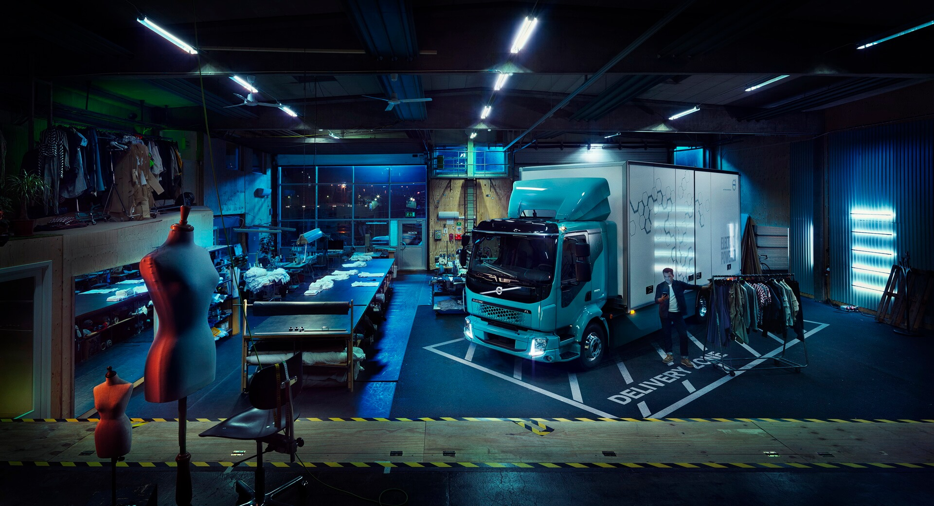 Электрический грузовик Volvo FL Electric