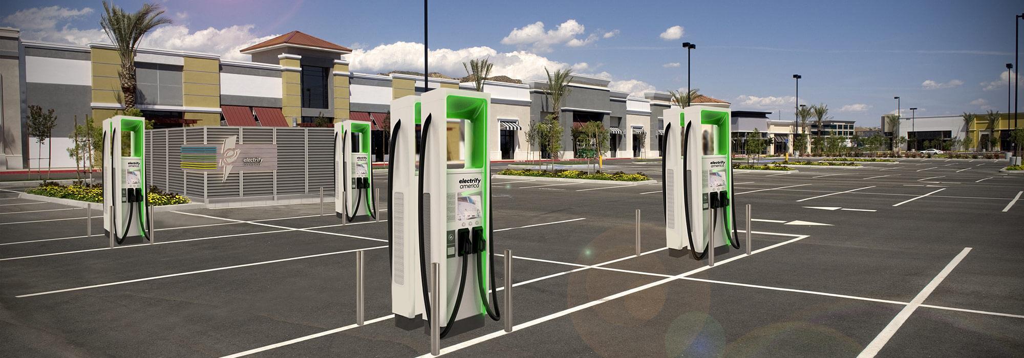 Зарядные станции «Electrify America» в США