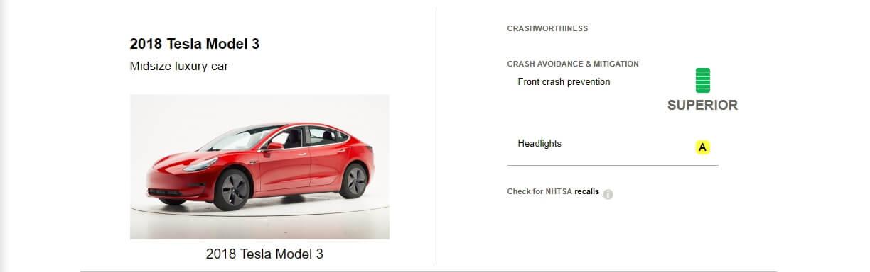 Первые результаты теста Tesla Model 3