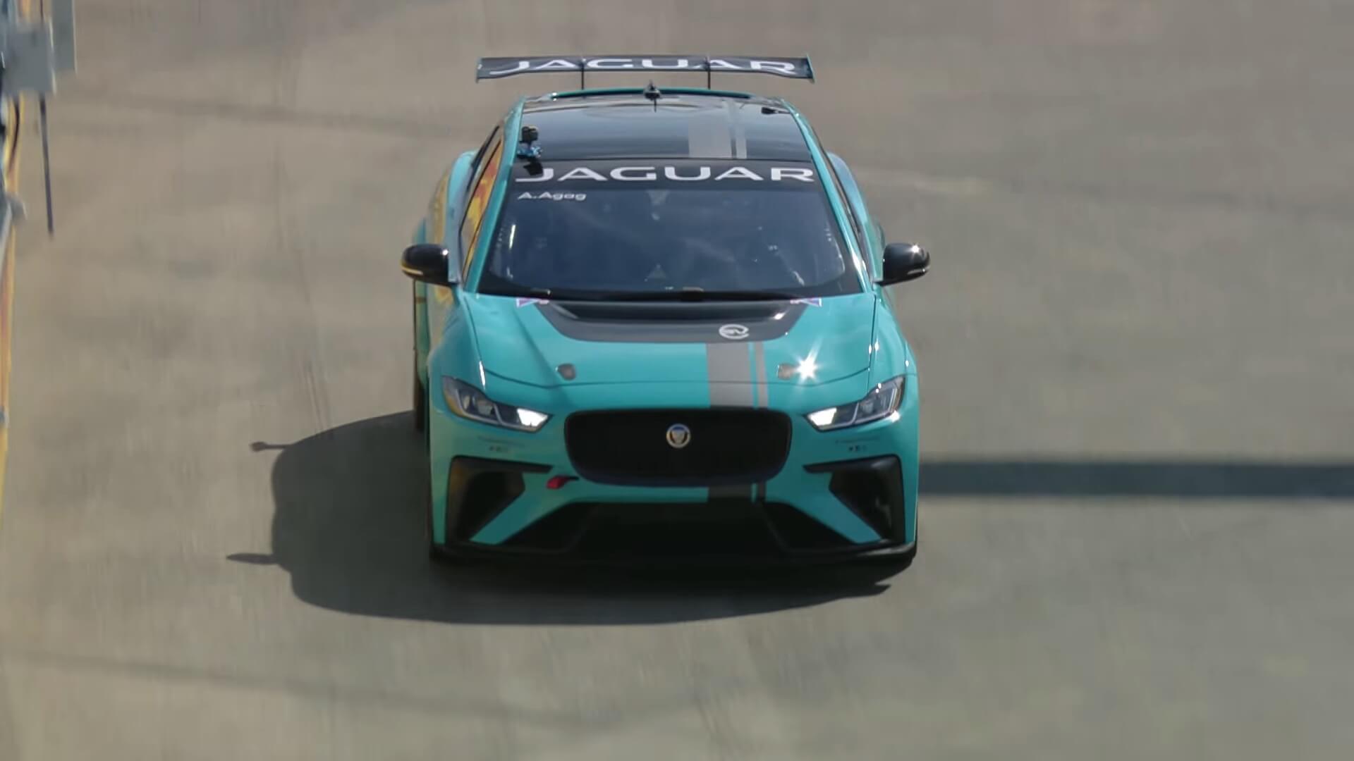 Jaguar I-Pace eTROPHY на трассе Formula E
