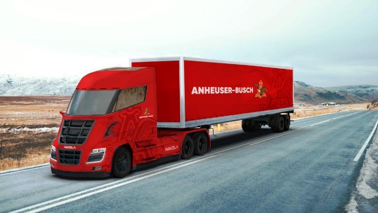 Первый в мире электро-водородный грузовик Nikola One