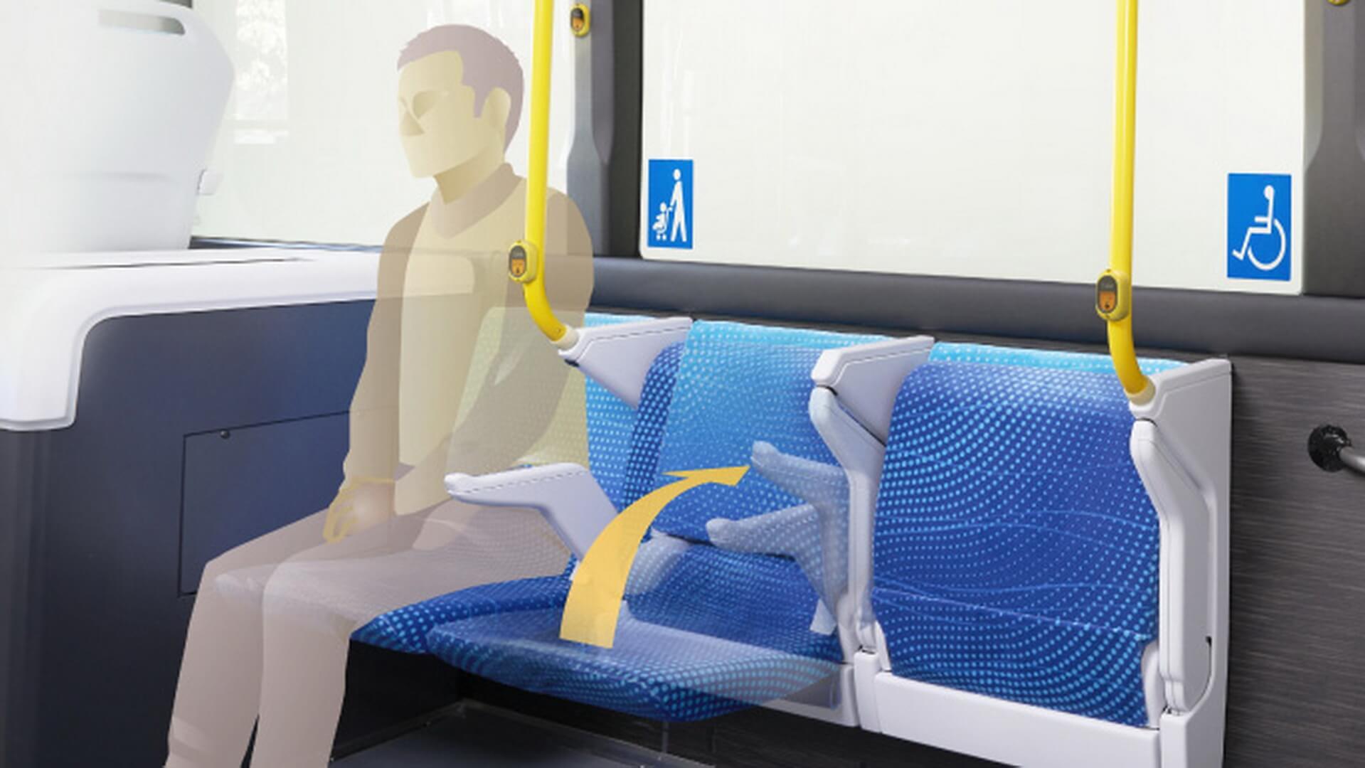 Сиденья с автоматической регулировкой в Toyota Sora