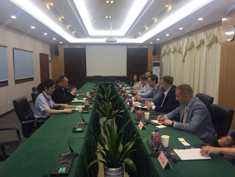 Встреча министра инфраструктуры Украины Владимира Омеляна