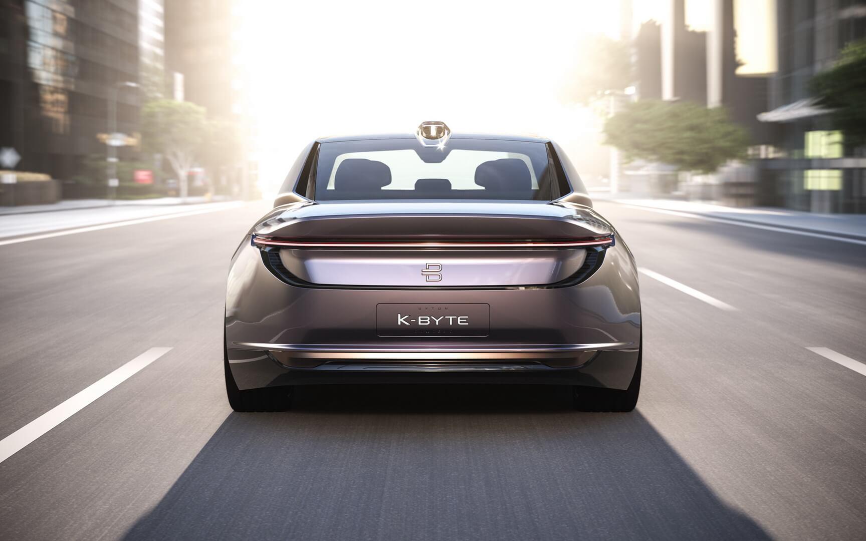 Концепт автономного электрического седана BYTON K-Byte — вид сзади