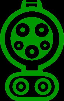 Электромобильный коннектор с разъемом Type 1 CCS Combo1 (США/Япония)