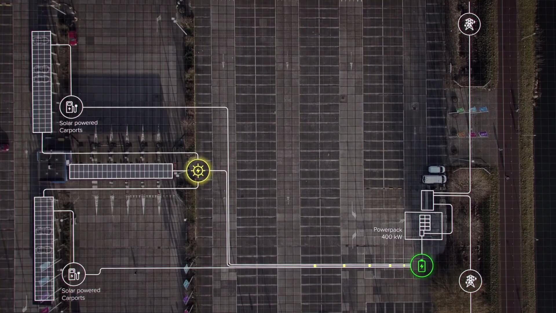 Схема питания универсальной зарядной станции с Tesla Powerpack