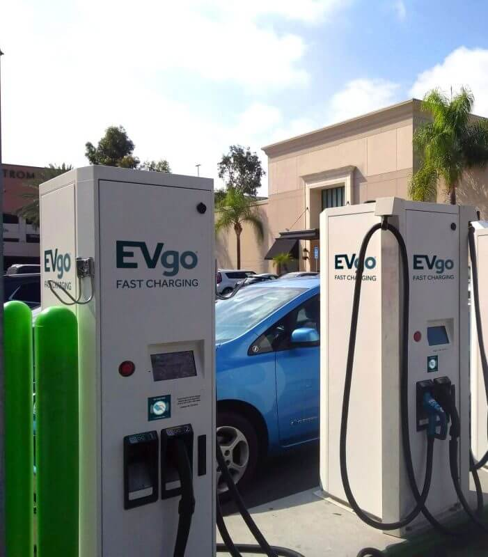 Станция быстрой зарядки EVgo