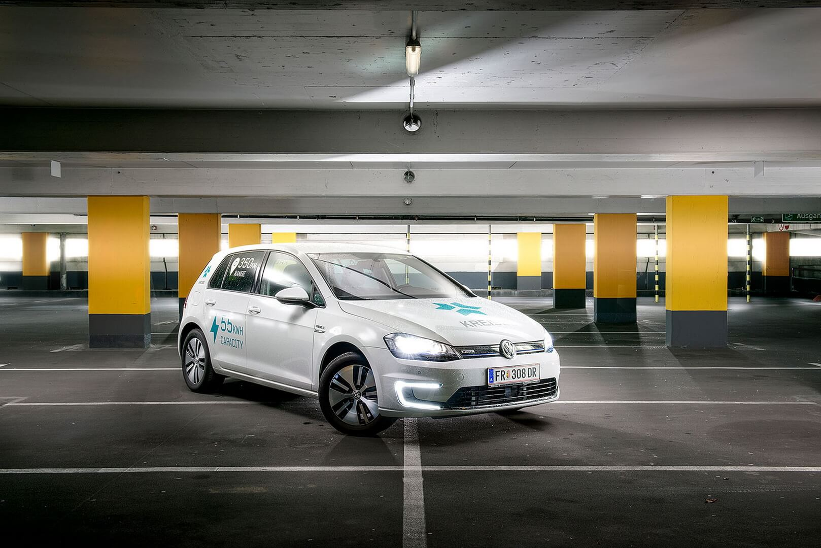 Volkswagen e-Golf переделанный Kreisel Electric