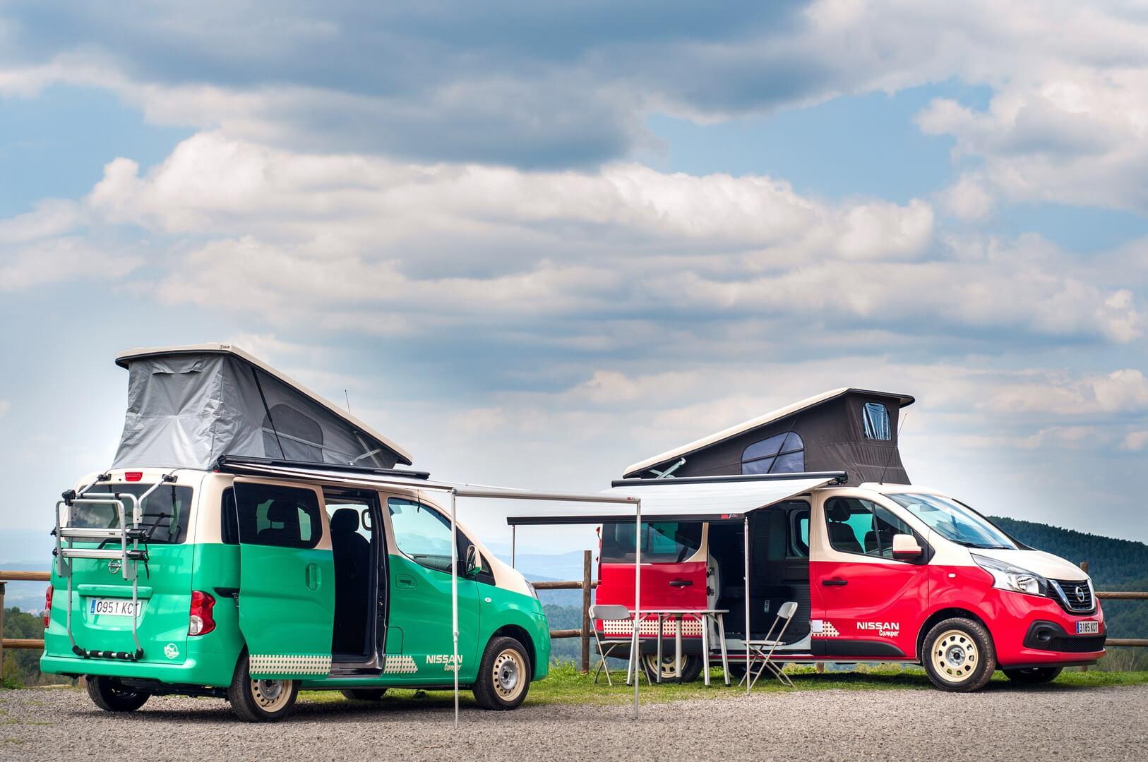 Полностью электрический Nissan e-NV200 Camper и Nissan NV300 Camper