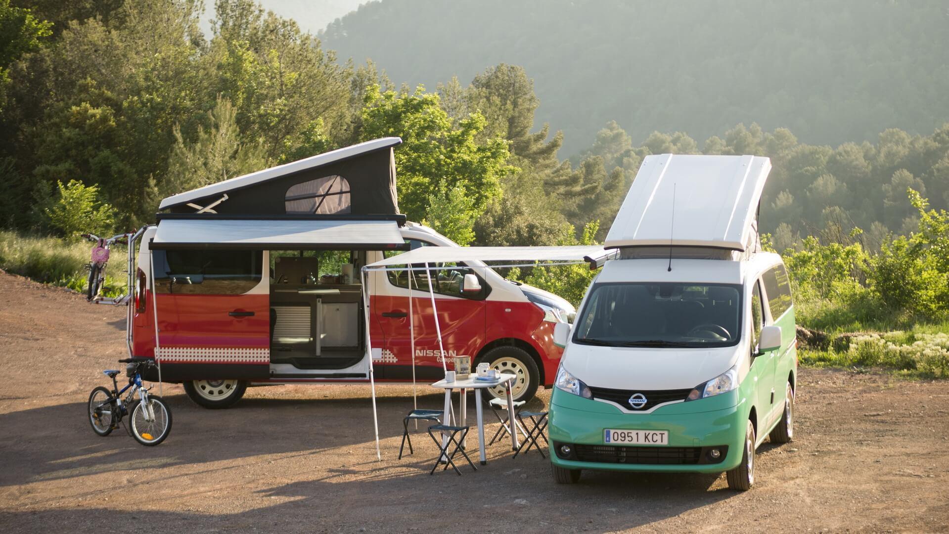 Nissan e-NV200 Camper и Nissan NV300 Camper