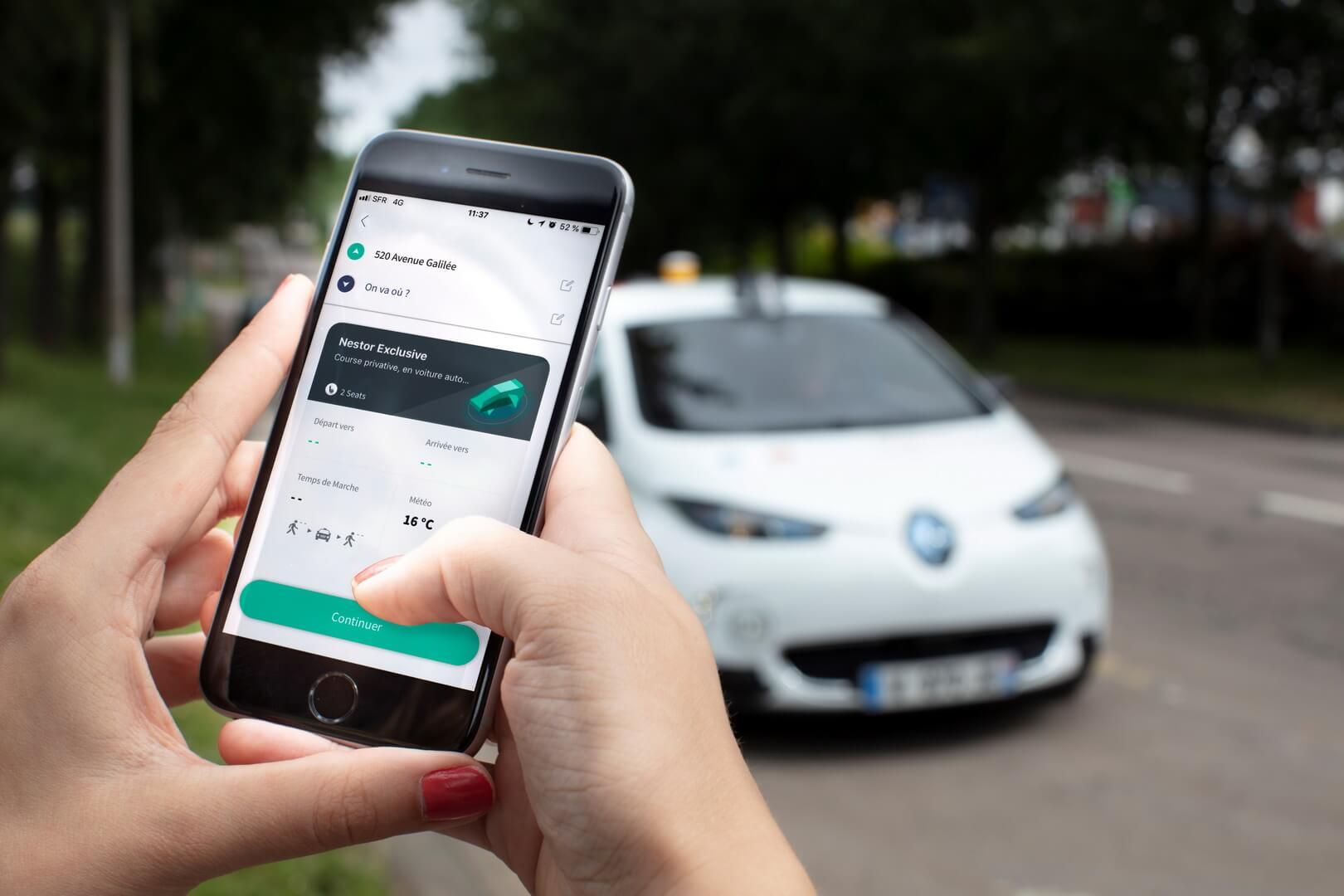 Приложения для смартфона для вызова беспилотного такси